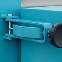 Reguliuojama, užrakinama durų spyna